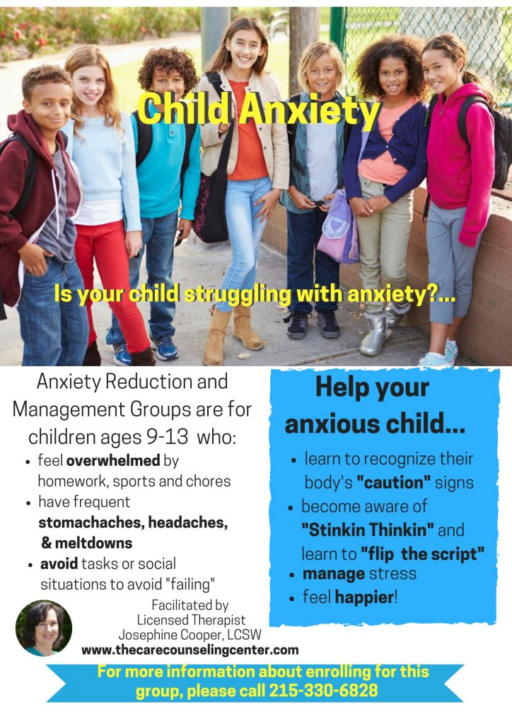 Anxiety Reduction and Management Group