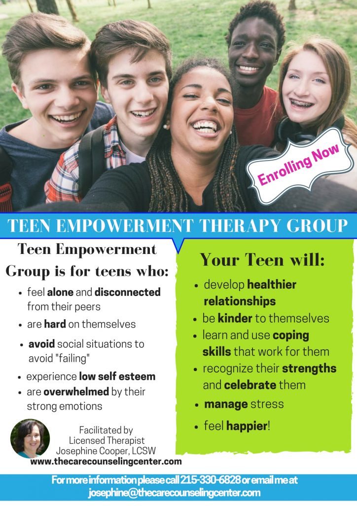 Teen Empowerment Therapy Group